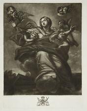 ASSUNZIONE DI MARIA Virgin Mary Assumption John Boydell Gallery - Incisione 1700