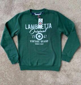 BNWT Lambretta green Pullover Jumper S Small rrp £35