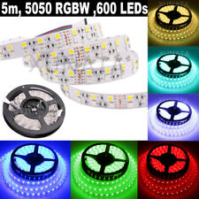 5m 600 LEDs Double Row RGBW 5050 SMD LED Strip Light Waterproof DC 12V 24V