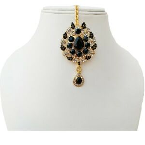 Wedding Bollywood Designer Gold Plated Party Wear Handmade jewelry Zircon Tikka