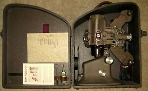 Bell & Howell FILMO Diplomat Model A 16mm Movie Projector In Original Case