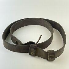 More details for antique genuine ww1 type leather lee enfield sling length 114cm hgr ld 19