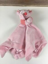 New listing Carters Security Blanket Lovey Plush Pink Mouse Baby Infant Toy Satin Rattle