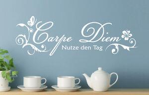 Carpe Diem - Nutze den Tag Wohnzimmer Schafzimmer Zitat Wandaufkleber WandTattoo