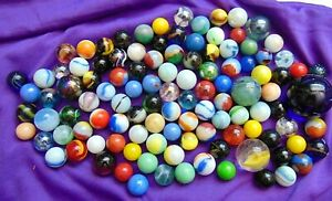 Marbles Lot Of 111 In Vintage Leather Sack With Drawstring Akro Agate Peltier +