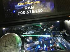 Star Wars SW Pinball Machine GREEN GLOWING LIGHT SABER LED mod Stern