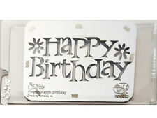 Sizzix Metal Embossing Plate, Happy Birthday #654525