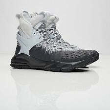 NEW Nike Lab ACG Air Zoom Tallac Flyknit Grey Black Suede Leather Boot sz 11.5