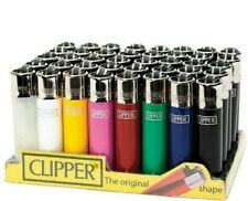 More details for clipper original the super lighter mini refillable assorted solid colours