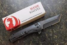 CRKT RUGER Carter 2-Stage R2104K Flipper Folding Knife Stonewash 8Cr13MoV Tanto