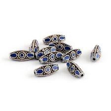 10pcs Alloy Triangle Handmade Indonesia Beads Rice DarkBlue Jewelry Finding 19mm