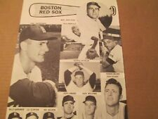 JKW 1963 Boston Red Sox MALZONE,RADATZ,YASTRZEMSKI