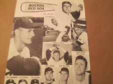 JKW 1963 Boston Red Sox MALZONE,YASTRZEMSKI..REDUCED