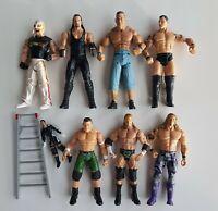 FIGURES FIGURINES WWE JAKKS LOT EDGE MYSTERIO CENA ORTON HHH UNDERTAKER MVP