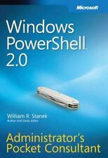 Windows PowerShell(TM) 2.0 Administrator's Pocket Consultant