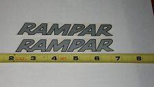 Old school NOS Rampar bmx bike decals stickers  pair set r9 r10 r11