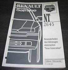 Service & Reparaturanleitungen Werkstatthandbuch Renault Safrane Elektrische Schaltpläne Elektrik Stand 2000!