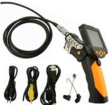 "Inspection Camera 6 LED Lights Borescope 3.5"" Color LCD 8.2mm Endoscope 1M Lens"