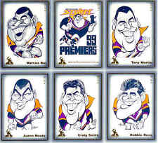 1999 Weg Art Melbourne Storm NRL Premiership Caricature Card Set (22)--RARE