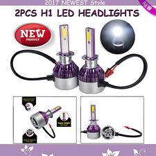 2x NEW Style LED H1 Headlights Hi Low Beam DRL 200W HID Bulbs White Super Bright