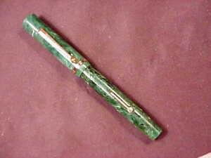WEBSTER LARGE MOTTLED GREEN FLATTOP, LF, GFT,c'40'