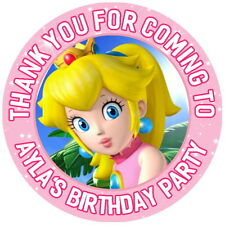 MARIO PRINCESS PEACH 24 PERSONALISED GLOSSY CHILDREN'S PARTY BAG  STICKERS,