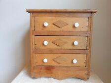 Antique Wood Toy Bear Doll Furniture Dresser Bureau Cabinet Salesmen Sample