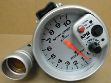 "AutoMeter 3904 Sort Comp Silver Shift-lite Tach, 10,000 RPM, 5"" Dia.,"