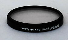 Tiffen 55mm Sky 1-A Lens Filter w Case