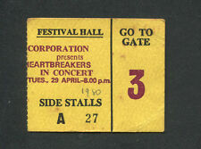 1980 Tom Petty Heartbreakers Concert Ticket Stub Brisbane Damn The Torpedoes