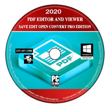 2020 PDF Editor Converter & Viewer - Save Edit Open Convert - Pro Edition New CD