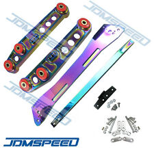 Neo Chrome Rear Lower Control Arm Subframe Brace Tie Bar For Civic 92-95 EG
