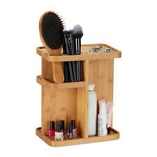 Make Up Organizer Drehbarer Kosmetikorganizer Halter Schmink Aufbewahrung Bambus