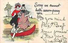 POSTCARD   COMIC   WRITE  AWAY  Sorry we cannot both..       .  Ethel  Parkinson