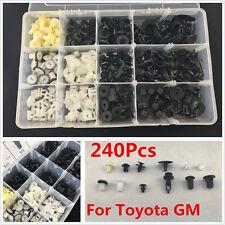 240PCS Door Moulding Trim Plastic Panel Retainers Clips Kit Car For Toyota GM