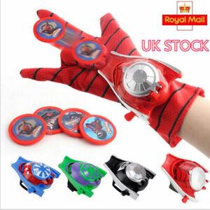 Toy Gift Superhero Hands Avenger Wrist Web Shooter Spiderman Launchers Gloves