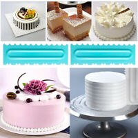 3Pcs/Set Plastic Dough Icing Fondant Scraper Cake Decorating Baking Pastry Tools