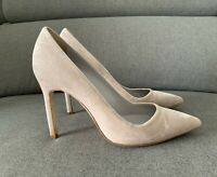 AUTHENTIC MANOLO BLAHNIK BB BEIGE VELVET PUMPS SHOES SIZE 37 7 $1000+