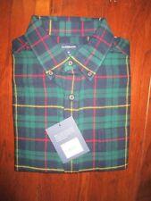 Men's Flannel shirt Croft & Barrow size medium green checks 100 % cotton NEW