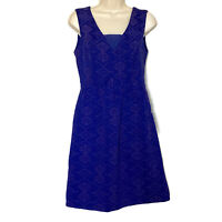 Maeve Anthropologie Women's Size 4 Purple Sleeveless V-Neck Pleated Dress