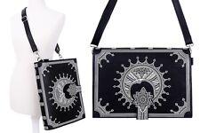 Restyle Mond Buch Handtasche Tasche Moon Book Bag Witchy Mond 90s Kunst-Leder