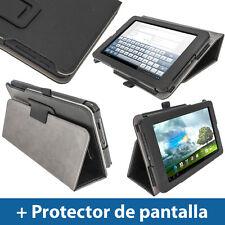 "Negro Funda Eco-Piel para Asus MeMo Pad ME172V 7"" 3G Android Tablet 16/32GB"