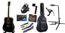 Left handed Acoustic Guitar with Full Package Black iMusic578L iMusicGuitar