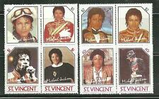 ST VINCENT MNH MICHAEL JACKSON REPLICAS OF 894-97, NOT VALID POSTAGE