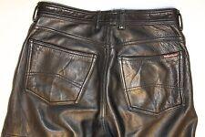 MARLBORO CLASSICS en Cuir Jeans RARE Taille XL w36 l36 cuir de vachette noir NP 749,-