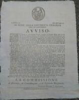 1798 MODENA REPUBBLICA CISALPINA RARO BANDO: NORME SULLA VENDITA DEL'ACQUAVITE