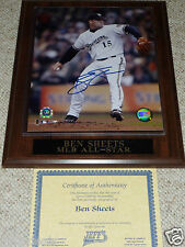Ben Sheets Milwaukee Brewers autographed 8x10 photo MLB All Star stat plaque COA