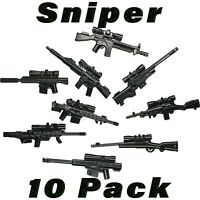 LEGO Guns Sniper Lot Randomized SWAT Weapons Rifle Custom Military Army Bulk