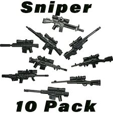 LEGO Guns Sniper Lot Randomized SWAT Weapons Rifle Custom Military Army Bulk