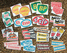 Classic Car Rally/Race HUGE 32 'WORN RETRO EFFECT' sticker decal set Mini cooper